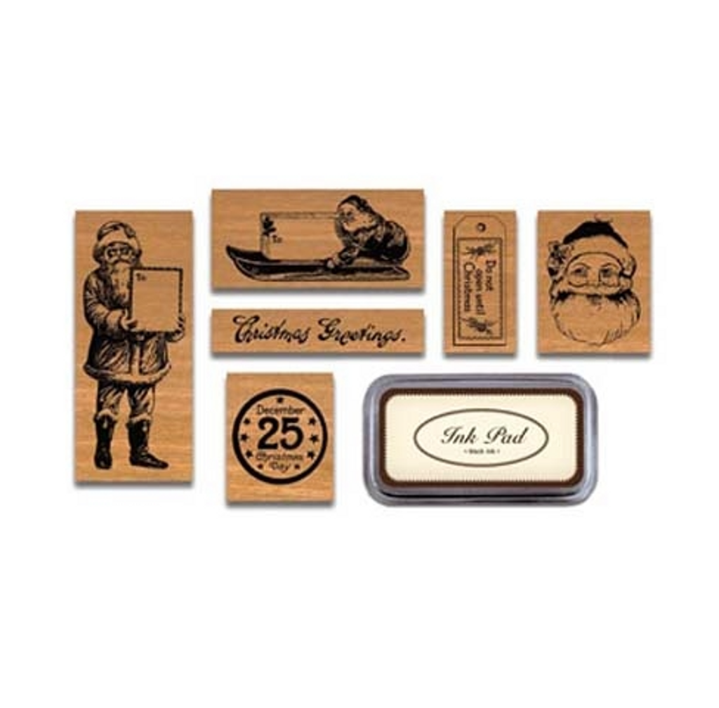 Vintage Rubber Stamp Christmas Collection