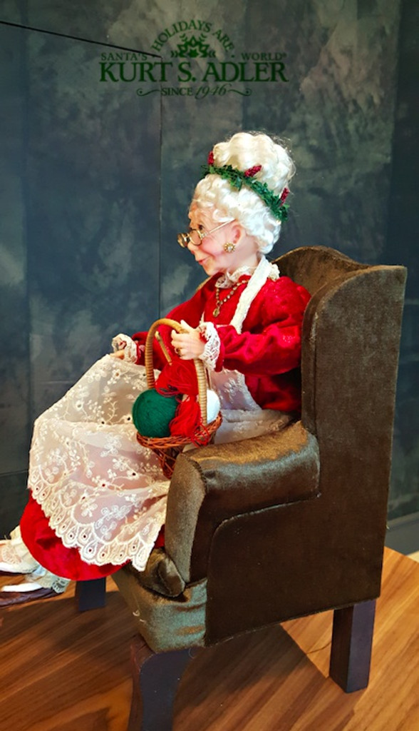 Kurt's Adler Mrs Claus Life Like Doll Display