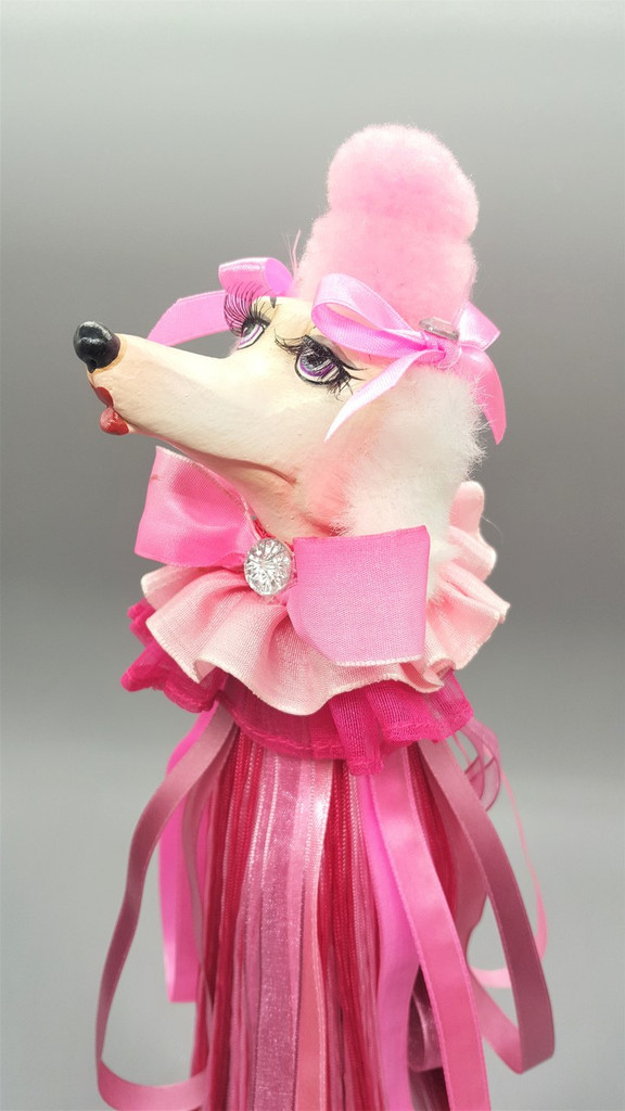 Katherine's Collection Fifi Poodle Wine Cover Display
