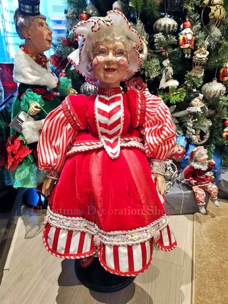 Katherine's Collection Candy Mrs Clause Doll Display