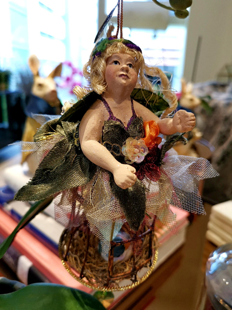 Katherine's Collection Spring Lady Bird cage Body Display Ornament
