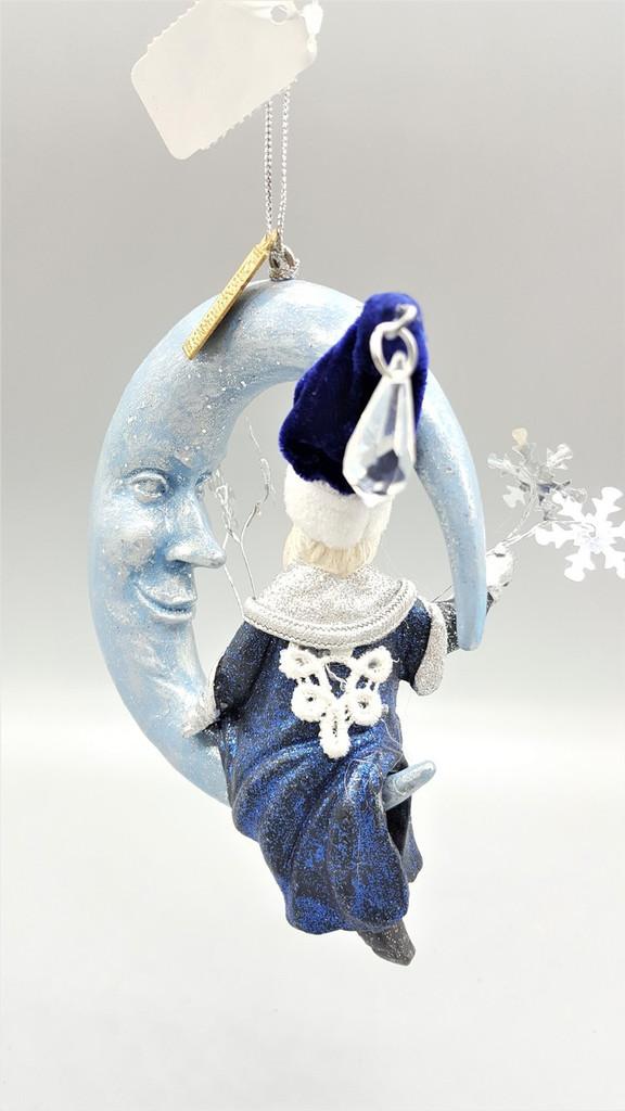 Katherine's Collection Azure Santa On Moon