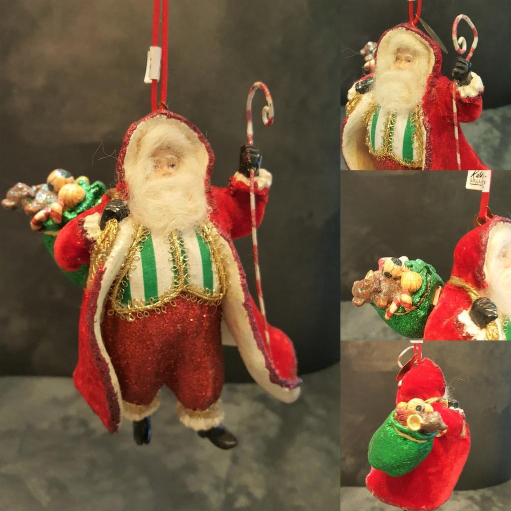 Vintage Santa Christmas Tree Decoration Display.