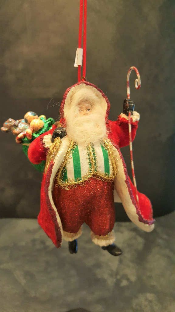 Katherine's Collection Vintage Santa Tree Decoration