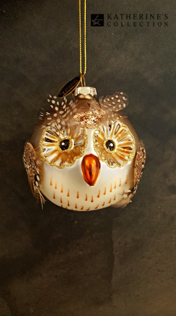 Katherine's Collection Handmade Glass Owl