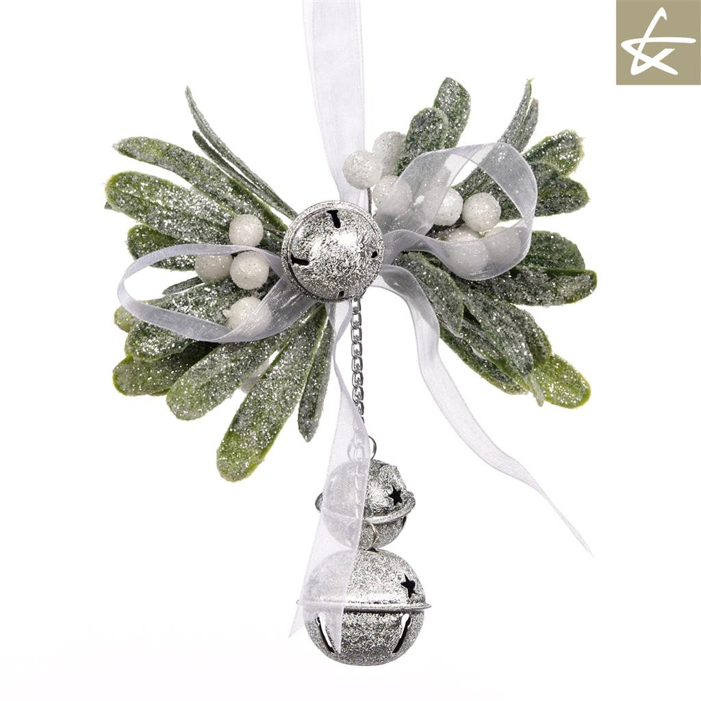 Katherine's Collection Christmas Mistletoe Tree Display With Bells