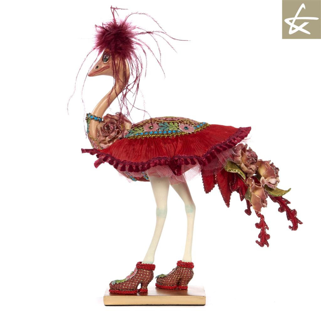 Katherine's Collection Bohemian Ostrich table display, Beautifully handmade with lavish detail.