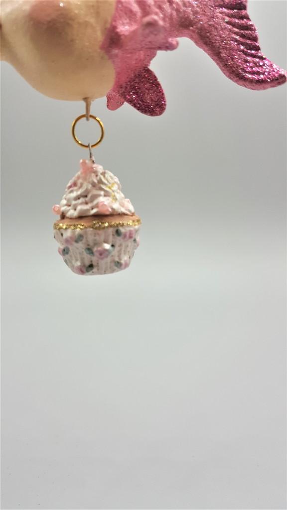 Kissing Fish Madame Cupcake Christmas Ornament