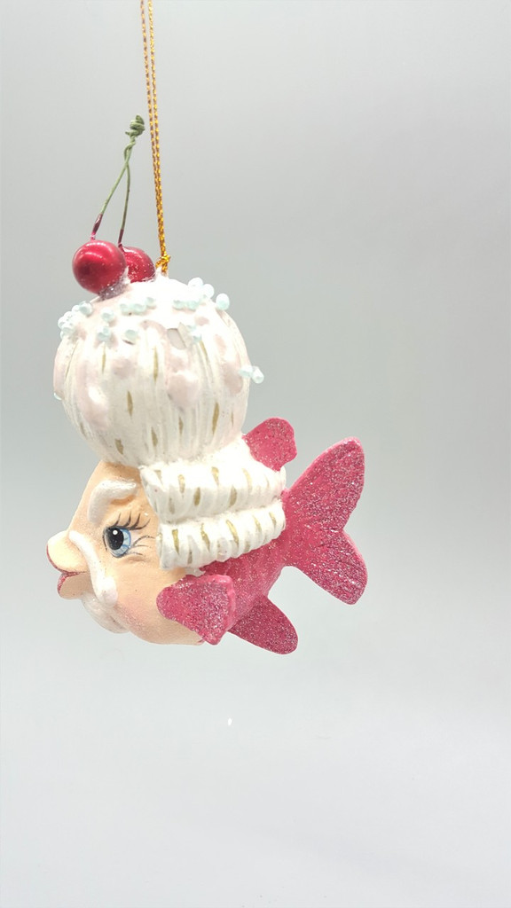 Mr Cherry Kissing Fish Tree Ornament