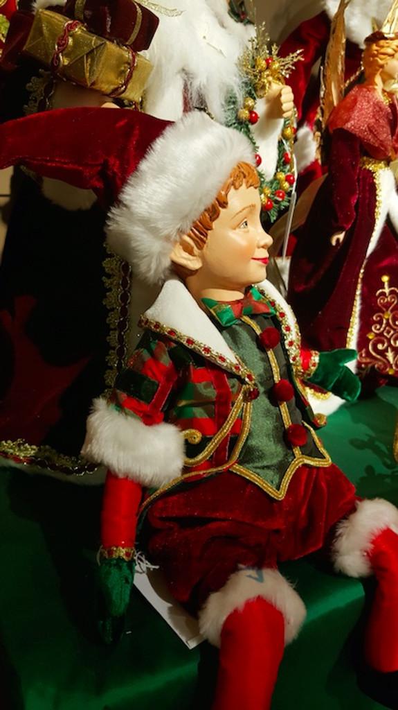 Katherine's Collection Christmas Elf Doll Display
