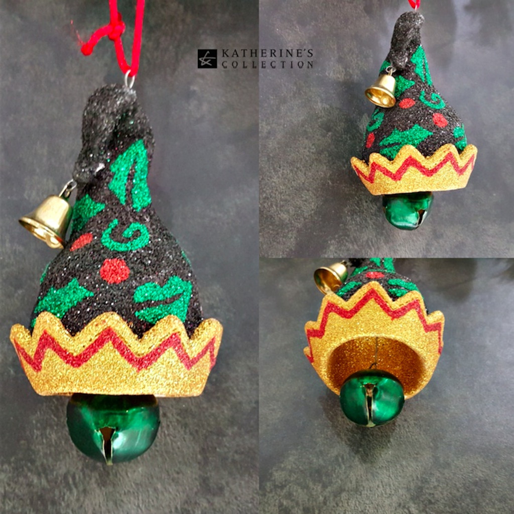 Katherine's Collection Elf Bell Hat Christmas Tree Ornament