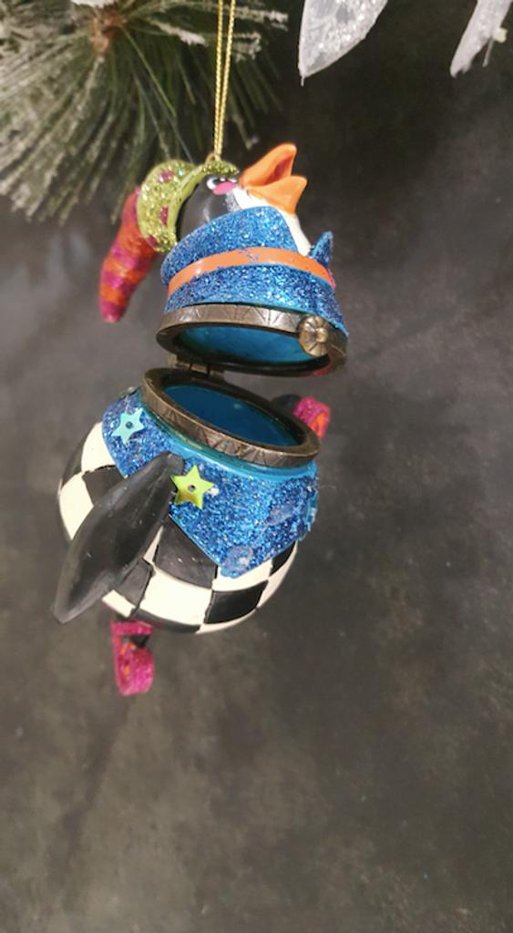Katherine's Collection Ice Skating Penguin Trinket