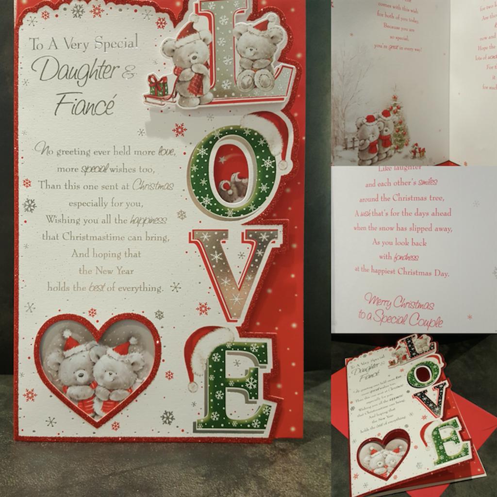 Daughter & Fiancé Large Christmas Card