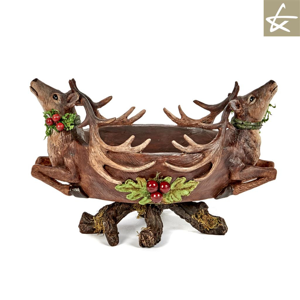 Katherine's Collection Christmas Reindeer Bowl
