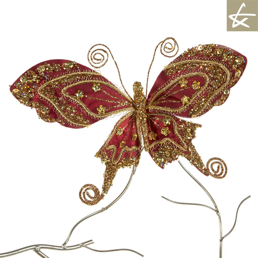 Bohemian Butterfly Christmas Clip Tree Decoration