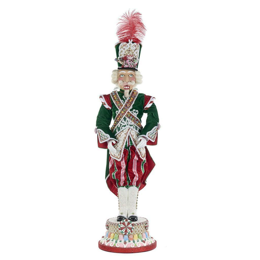 Katherine's Collection Sweet Xmas Nutcracker Doll Display, Handmade With Lavish Materials