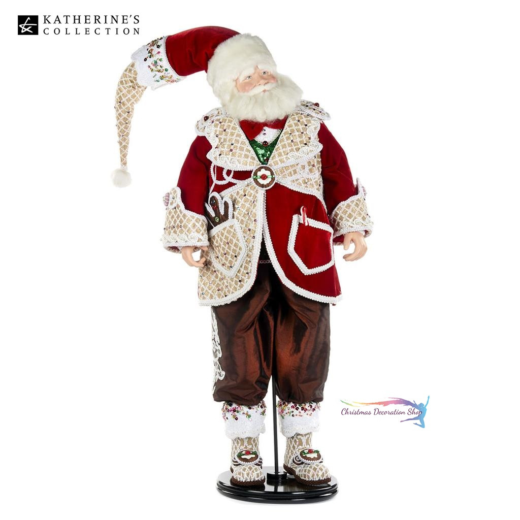 Katherine's Collection Sweet Xmas Santa Doll Display 81cm