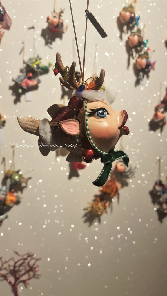 Katherine's Collection 2019 Reindeer Kissing Fish