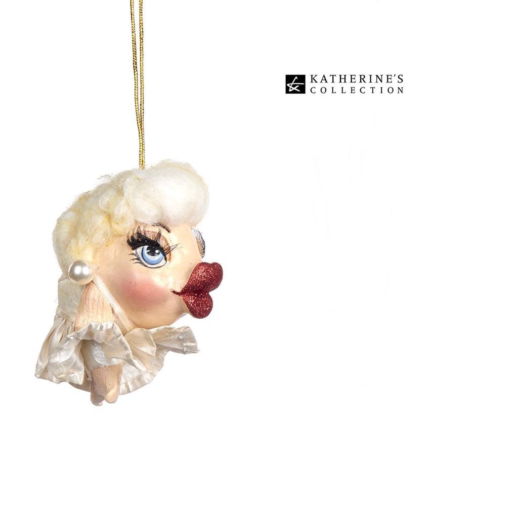 Marilyn Kissing Fish Christmas Tree Ornament 13cm