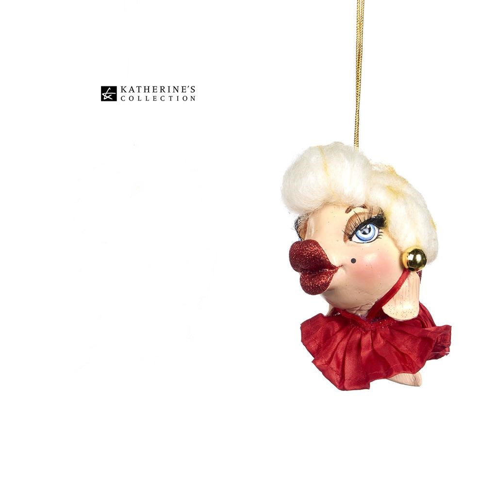 Katherine's Collection Marilyn Kissing Fish Christmas Tree Ornament 13cm