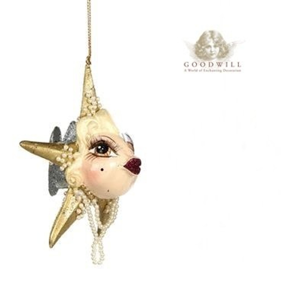Gatsby Star Kissing Fish Christmas Tree Decoration Size 12,5cm