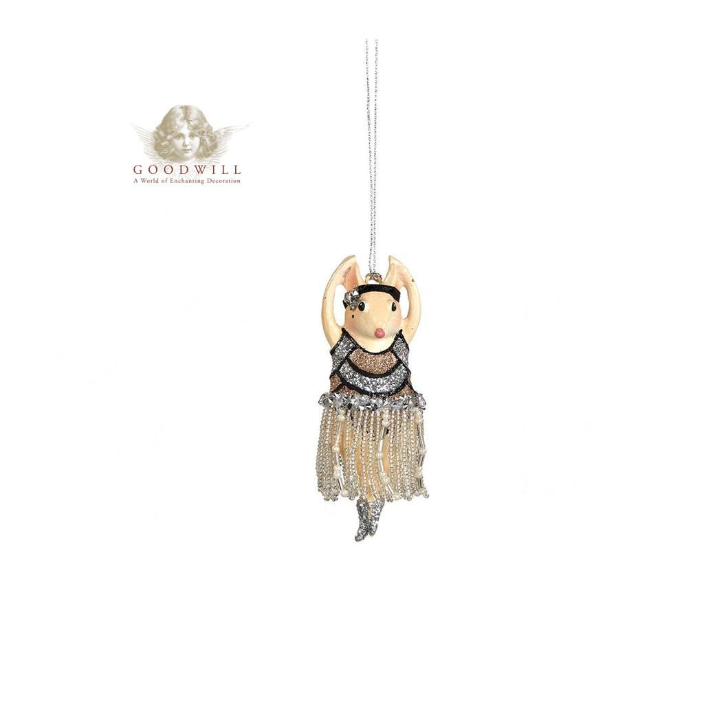 Goodwill Gatsby Show Girl Mine Tree Ornament Size 10cm