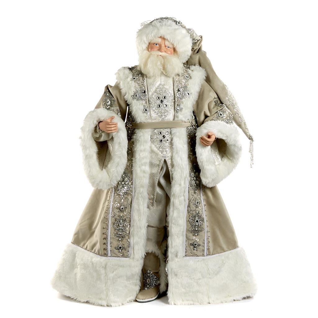 Katherine's Collection Large Santa Doll Display 91cm tall with outstanding attention to detail and crystals.