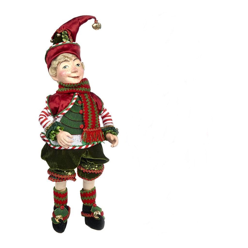 Night Before Christmas Elf Doll Display