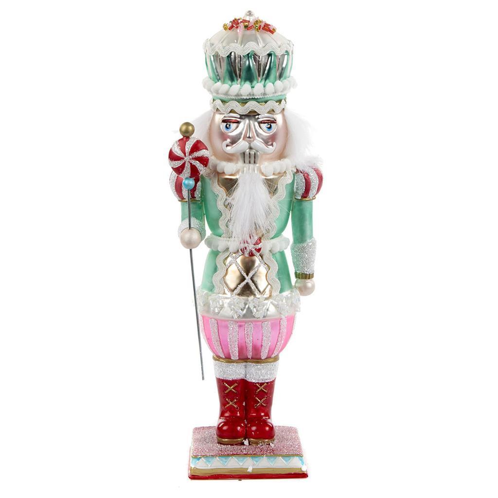 Sweet Xmas Glass Nutcracker Display 28cm