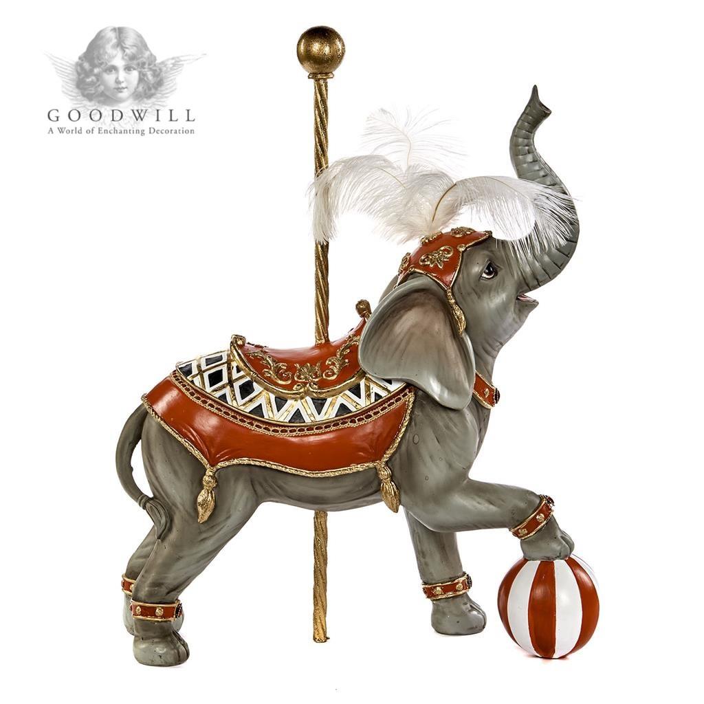 Goodwill 2019 CIRCUS CAR.ELEPHANT TT GRY/RD 54CM