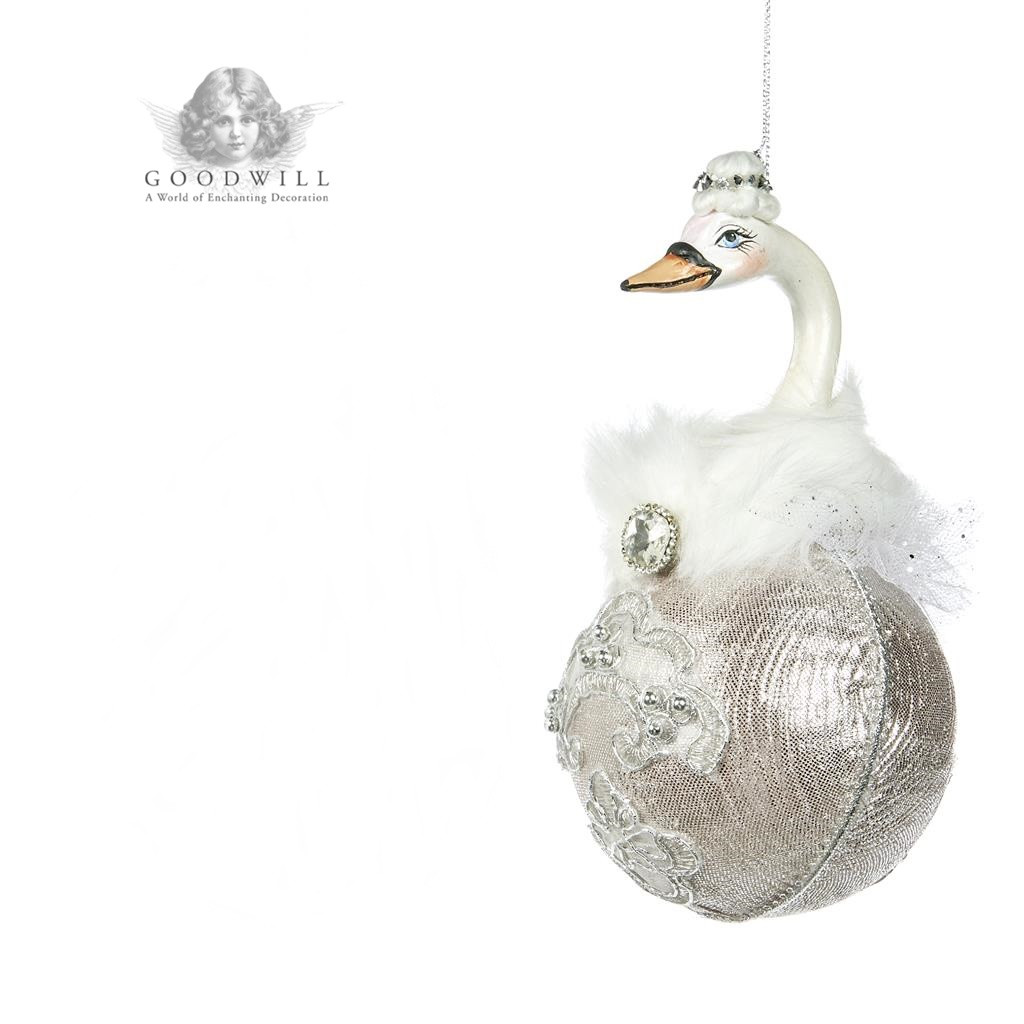 Winter Ballet Swan Christmas Tree Display