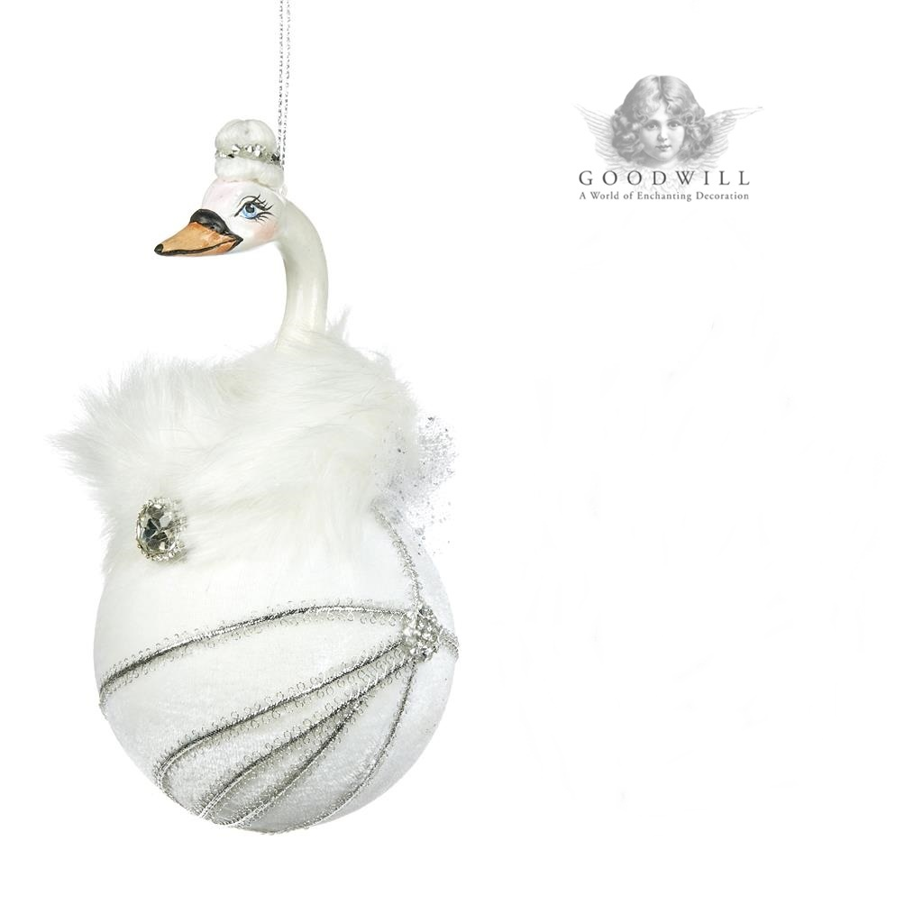 Swan Ballet Christmas Tree Decoration Display