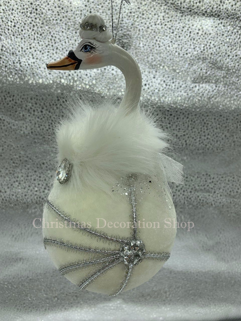 Goodwill 2019 Swan Christmas Bauble Display