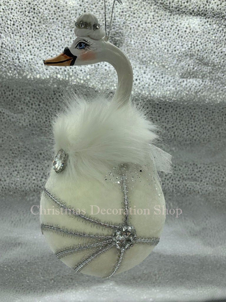 Goodwill Swan Christmas Bauble Display