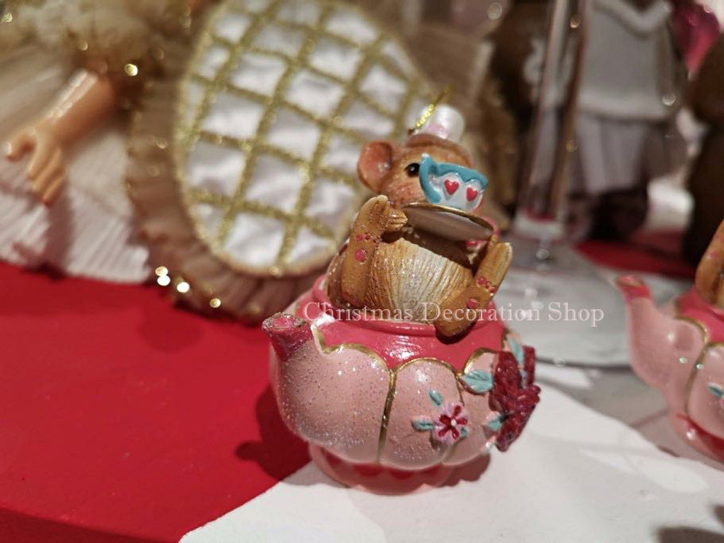 Goodwill 2019 Mouse In Teapot Tree Ornament