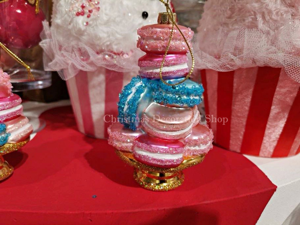 Goodwill 2019 Glass Macaron Stack Tree Ornament