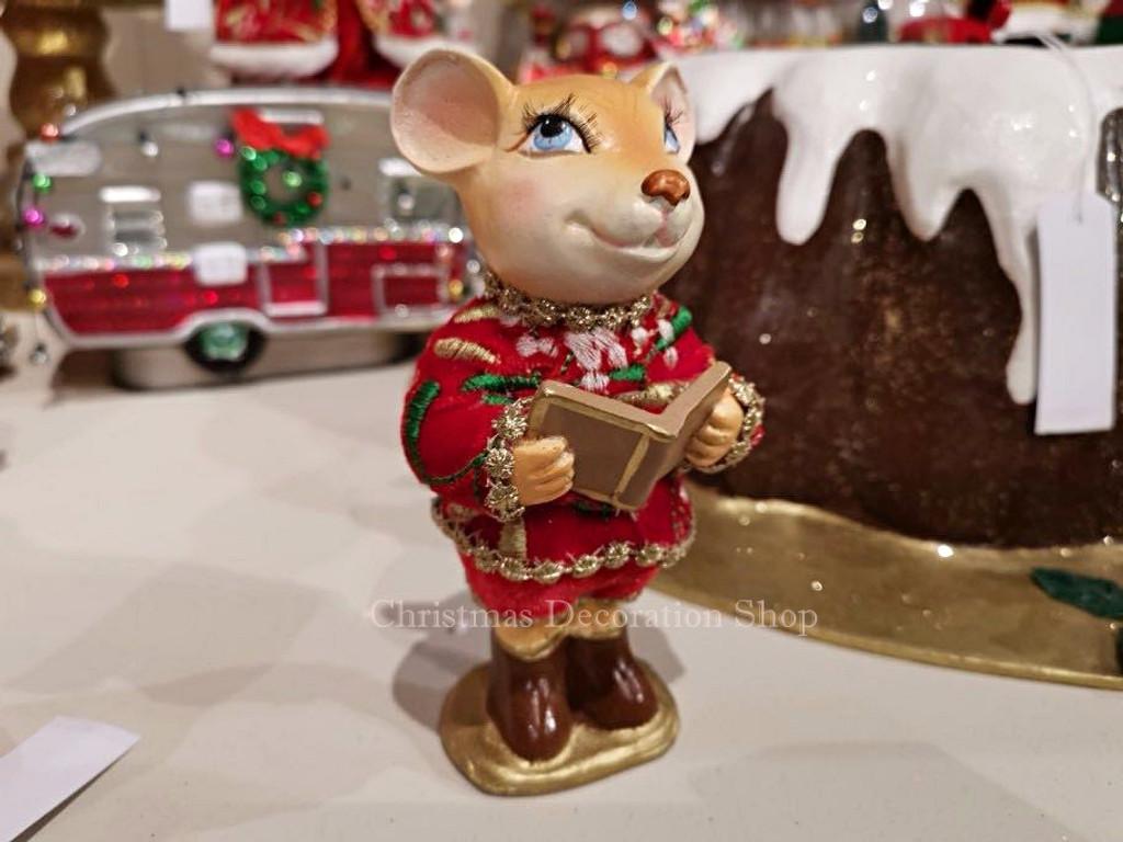 Goodwill Holly Choir Mice Table Ornament