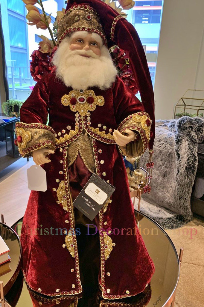 Katherine's Collection 2019 Gifts Santa Doll
