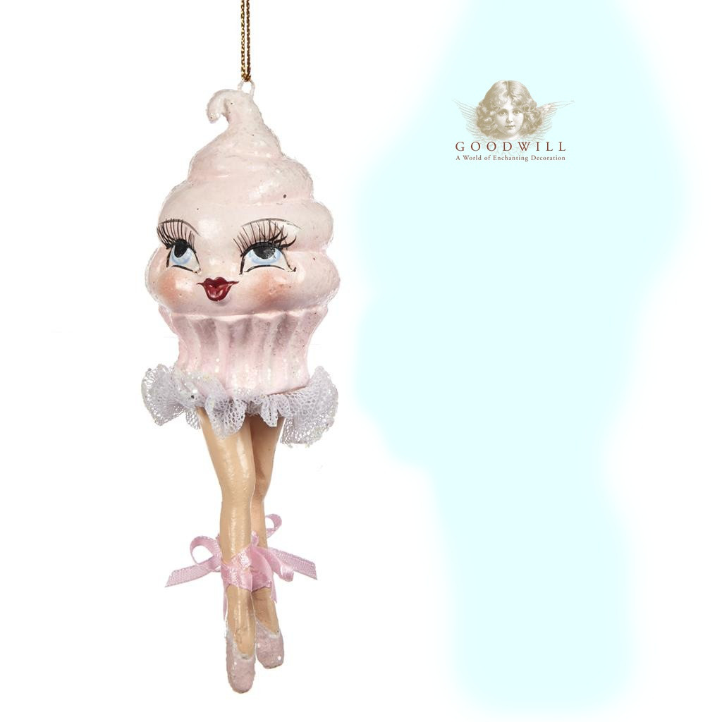 Cupcake Christmas Ballerina Decoration