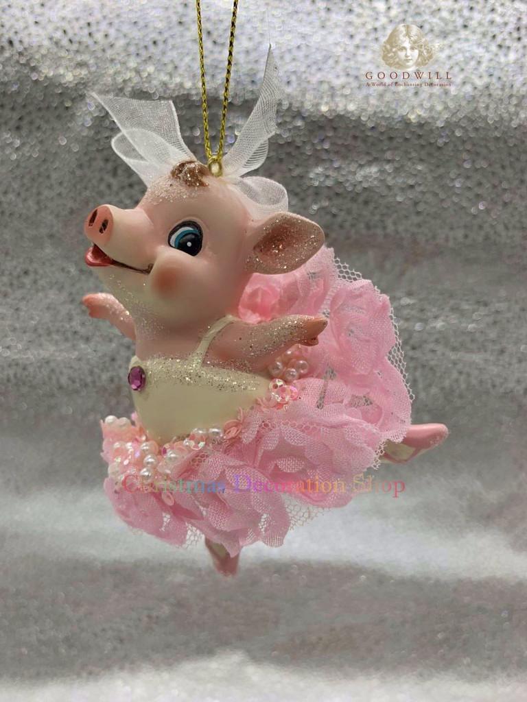 Goodwill 2019 Ballerina Piggy Tree Ornament