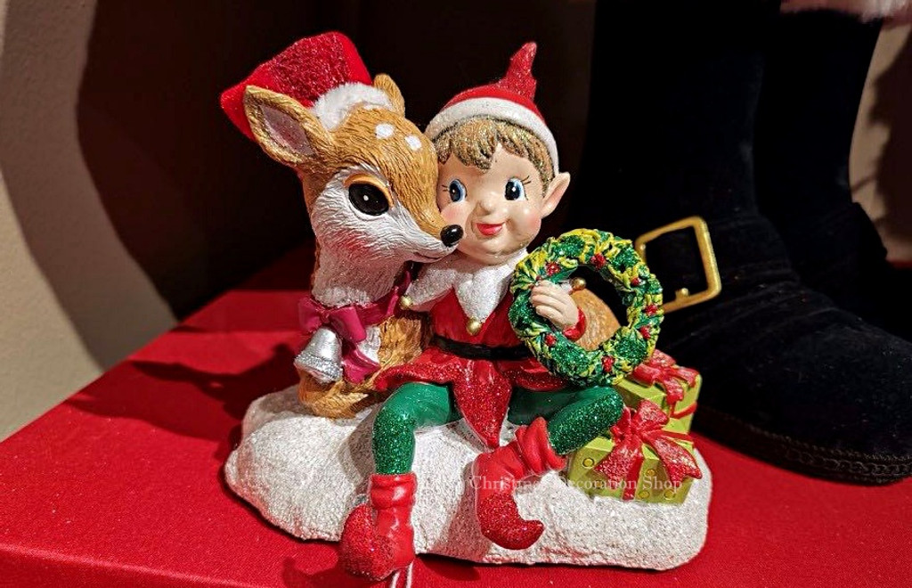 Katherine's Collection 2019 Elf With Deer