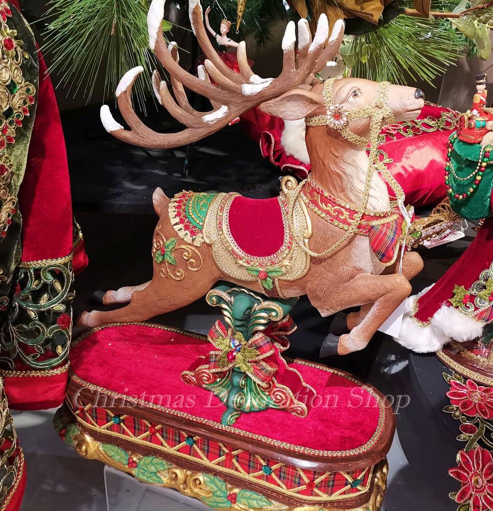 Katherine's Collection 2019 Jumping Reindeer Display