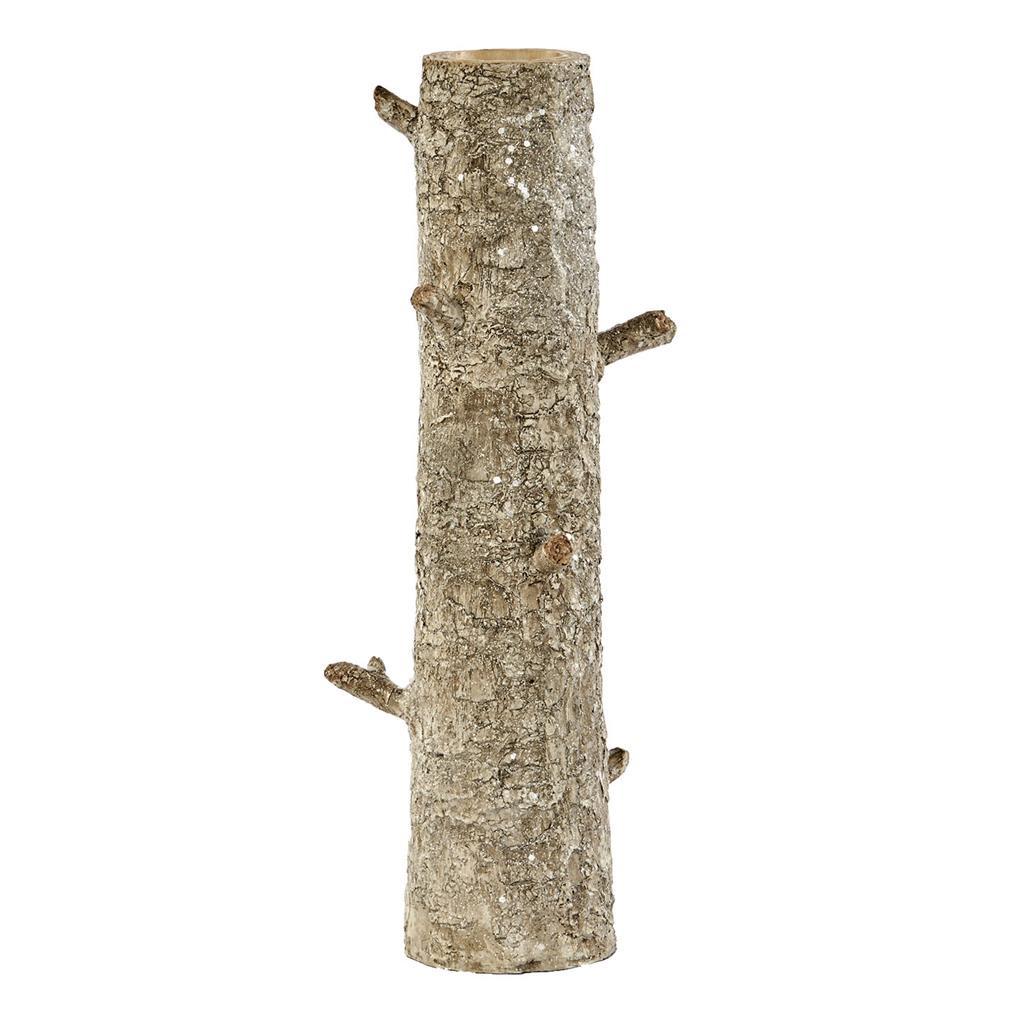TREE TRUNK VASE TT CRM/BRWN 41CM
