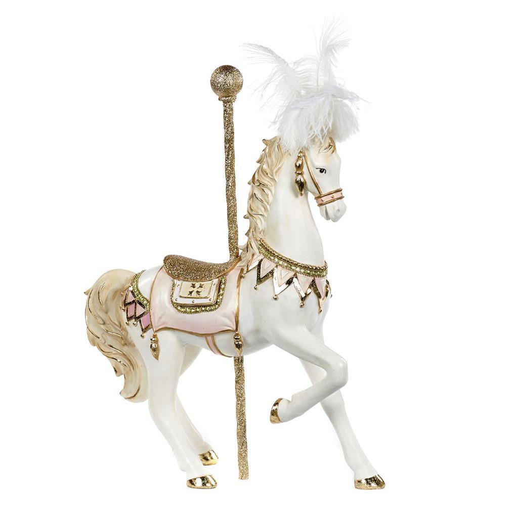 CANDY CAR.HORSE TT PNK/CRM/GLD 53,5CM