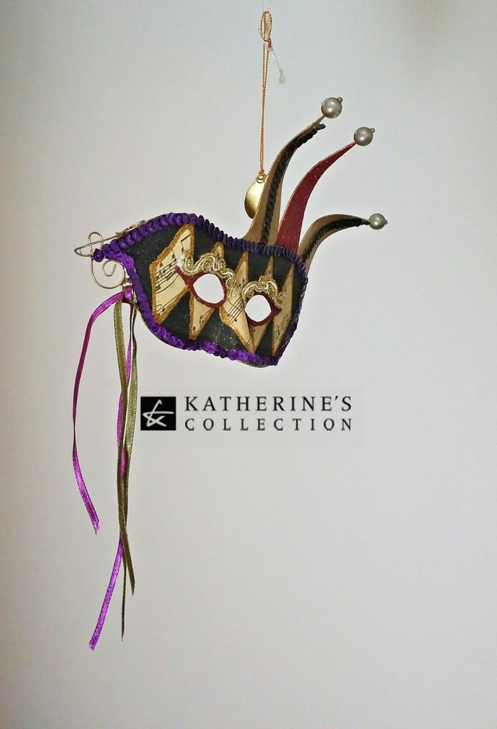 Katherine's Collection Jester mask Tree Decoration