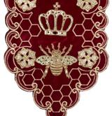 QUEEN BEE RUNNER BURG/GLD 180CM