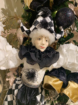 Goodwill 2020 Jointed Pierrot Jester Doll WH/BLK 85CM
