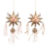 BOH.FAIRY DREAMC.STAR FISH ORN / CRM/PNK 12CM