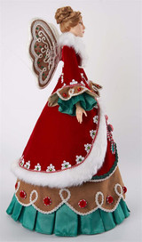 Katherine's Collection 2021 Gingerbread Cone Angel Doll TT RD/GRN/BRWN 56CM