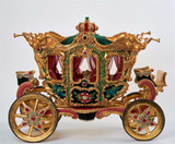 Katherine's Collection Glorious Tidying Carriage GLD/GRN/BURG 63CM
